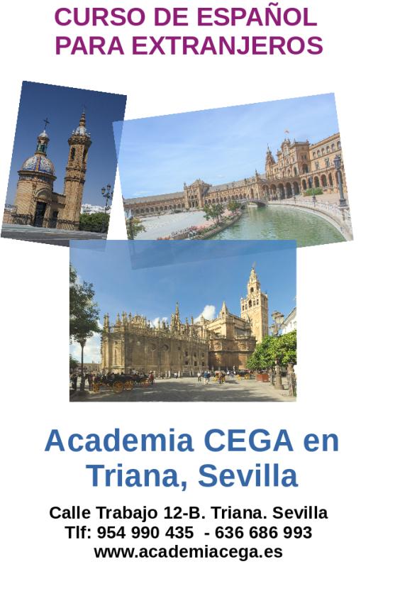 Curso de español para extranjeros en la Academia CEGA en Triana, Sevilla.